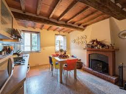 tuscan house built on the hill of a small mountain village
