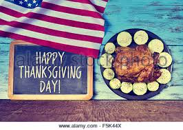 Significance Of Thanksgiving Day In America Thanksgiving Day With The American Flag Stock Photo 147858335 Alamy