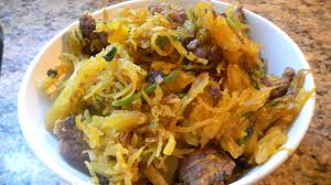 sauteed spaghetti squash with beef the clean palate