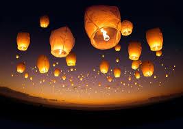 newyear flying lanterns all the world