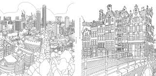 extremely detailed coloring book architecture lovers curbed