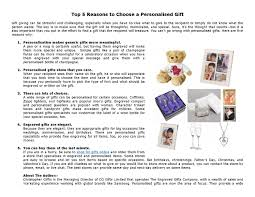 top 5 reasons to choose a personalised gift by chris giffin issuu