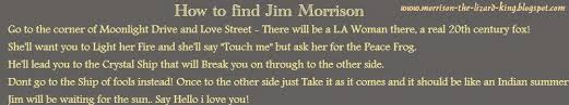 Big Lizard In My Backyard Lyrics Jim Morrison Album An American Prayer Lyrics