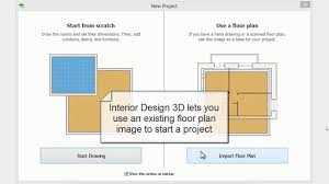 how to import a floor plan in interior design 3d youtube