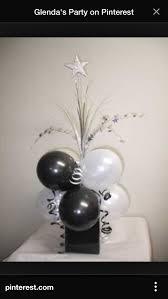 50th birthday flowers and balloons centerpiece black white centerpieces birthdays