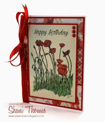 paperesse hand drawn birthday card with cheery french poppies
