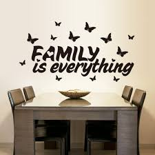 online get cheap wall stickers family quotes aliexpress com family is everything quotes wall stickers removable living room butterfly bedroom vinyl decoration adesivo de parede