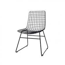chaise m tallique chaise métal noir