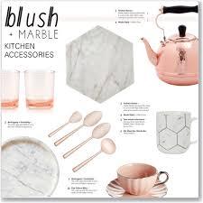 polyvore home decor blush marble kitchen accessories polyvore