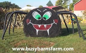 busy barns farm spider round bale art round bale art pinterest