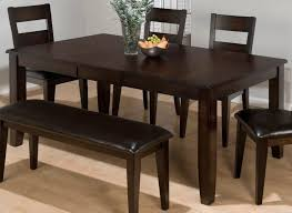 rustic dining room table set brown varnishes teak wood dining