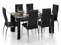 Supreme Dining Chairs Buy Supreme Bison Dining Table Black On Amazon Paisawapas Com