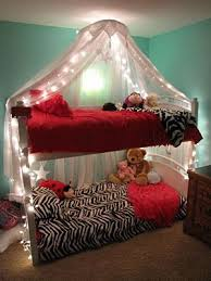 Bunk Bed Canopy Obvously Girly But If I Do The Shower Tension Rod Curtain On