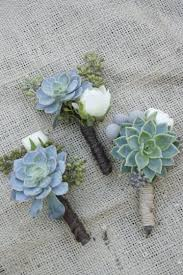 succulent boutonniere succulent boutineers these are especially like the twine