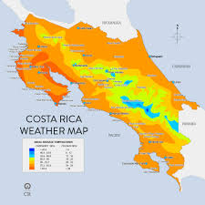 Map Costa Rica Weather Maps And More Costa Rica Pinterest Costa Rica