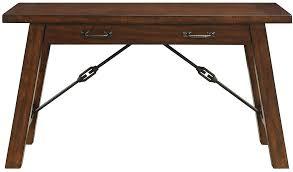 wood and metal writing desk dressler solid hardwood metal writing desk hand applied warm walnut