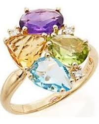 citrine engagement rings check out these bargains on effy amethyst blue topaz citrine