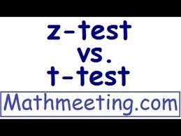 z test vs t test youtube