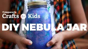 diy nebula jar pbs parents crafts for kids youtube