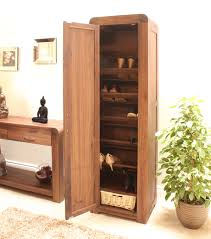 strathmore solid walnut furniture shoe cupboard cabinet tall