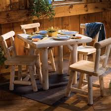 Log Dining Room Sets by Log Furniture Hand Crafted Style Lodge Styledining Group Cabin