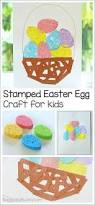 Easter Decorations Out Of Paper by Easter Crafts For Kids Sponge Painted Easter Egg Basket Paper