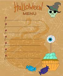 background for halloween menu
