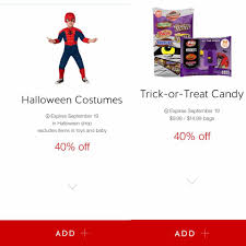 Halloween Candy Printable Coupons by 40 Off Halloween Costumes And Candy At Target Today 9 19 Only