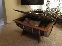 Whiskey Barrel Pub Table Coffee Tables Used Wine Barrel Furniture Wine Barrel End Table