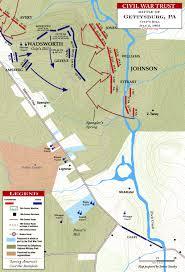 Gettysburg Pennsylvania Map by Battle Of Gettysburg Culp U0027s Hill