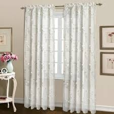 White Polka Dot Sheer Curtains Embroidered Sheer Curtains