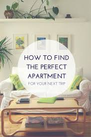 to find the perfect apartment on sites like airbnb