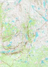 Topographical Map Of New Mexico by Topographic Map Of The Trail To Titcomb Basin Wyoming