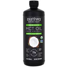 nutiva organic mct oil from coconut unflavored 32 fl oz 946 ml