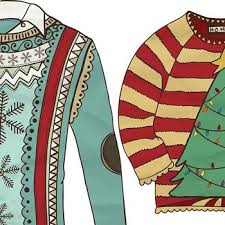 sweater clipart tacky sweaters festive