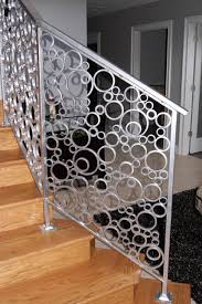 interior stair railing made of metal circles refuge of beauty