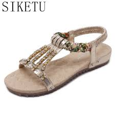 Rhinestone Flat Sandals Wedding Compare Prices On Silver Flat Sandals For Wedding Online Shopping