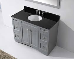 Bathroom Vanities Granite Top 48 Elise Single Bathroom Vanity In Grey With Black Galaxy Granite Top