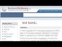 bid bond bid security