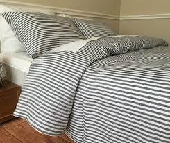 navy ticking stripe duvet cover striped linen bedding dorm