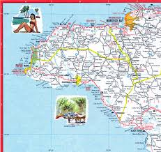 Jamaica Map Jamaica Road Map 2005 West Of Montego Bay