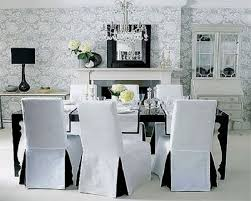 Dining Room Chair Slip Cover Dining Room Chair Slipcovers White