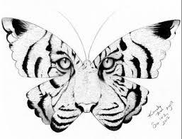 tiger butterfly design tattoos d