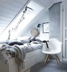chambre avec mur en 1001 idées déco de chambre sous pente cocoon