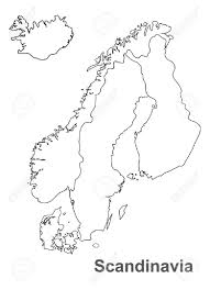 Scandinavia On Map Scandinavia Map In White Background Scandinavia Map Vector Map