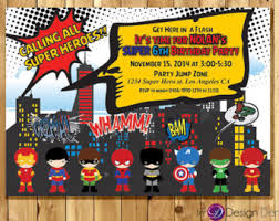 super hero girls birthday party invitations calling all