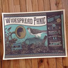 widespread panic wood tour 2014 by status serigraph 411posters