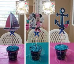 minnie mouse nautical center pieces sailor centerpieces anchor