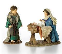 says holy family nativity figurines set 55047 kathy