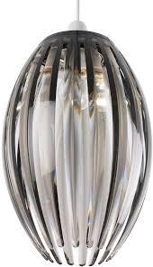 Pendant Light Rods Modern Pendant L Shade Curved Acrylic Rods Smoked Ne Dorney Smk